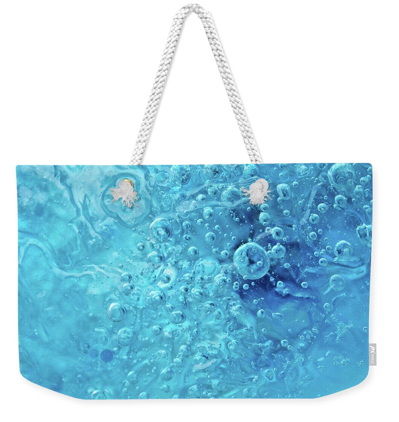 Abstract Weekender Tote Bag featuring the photograph Ocean Under by Shannon Workman