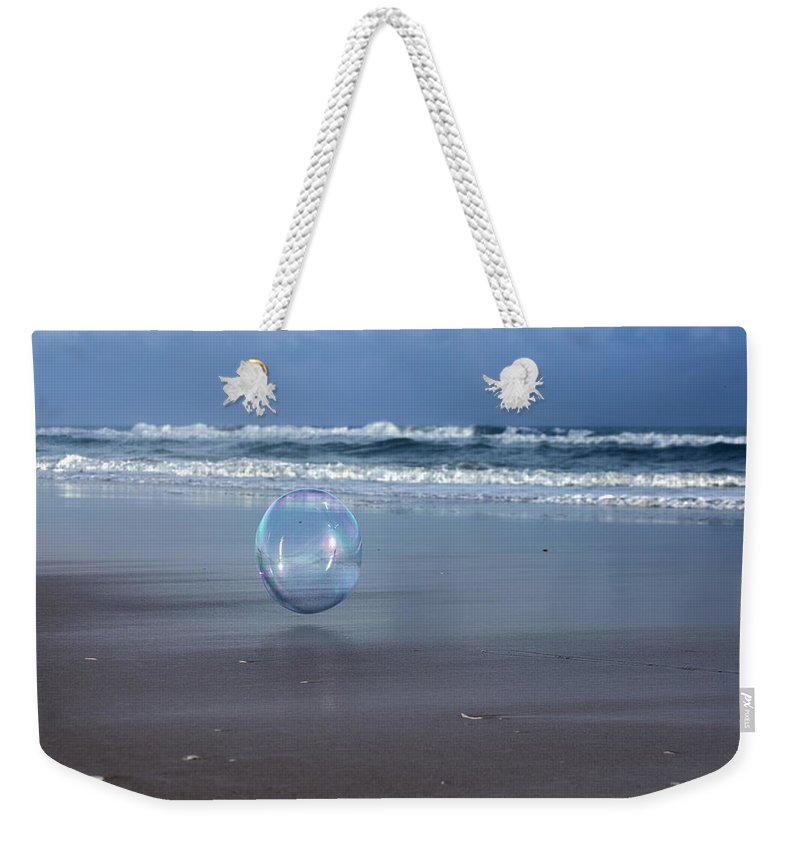 Bubble Weekender Tote Bag featuring the photograph Oceanic Sphere by Betsy Knapp
