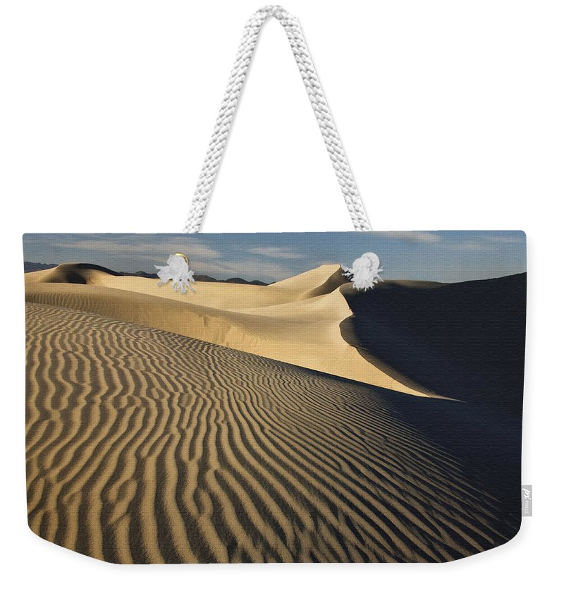 Landscape Weekender Tote Bag featuring the photograph Oceano Dunes by Sharon Foster