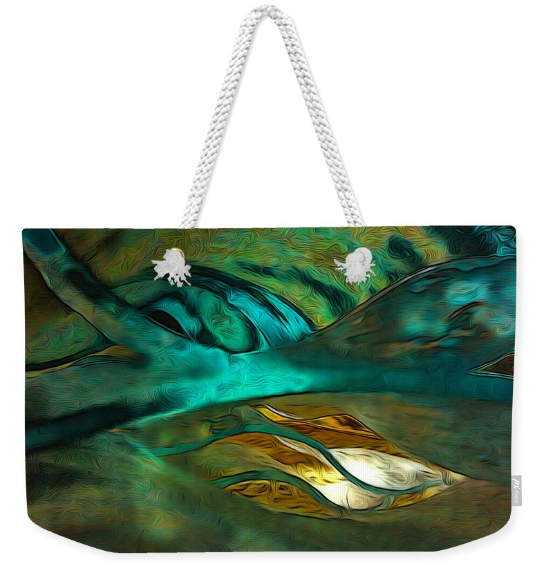 Abstract Weekender Tote Bag featuring the photograph Oceans About You by Mykel Davis