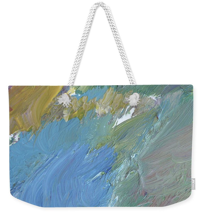 Abstract Expressionism Weekender Tote Bag featuring the painting Oceans by David Lloyd Glover