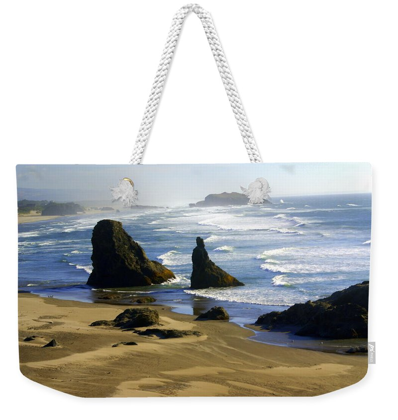 Beach Weekender Tote Bag featuring the photograph Oceanscape by Marty Koch