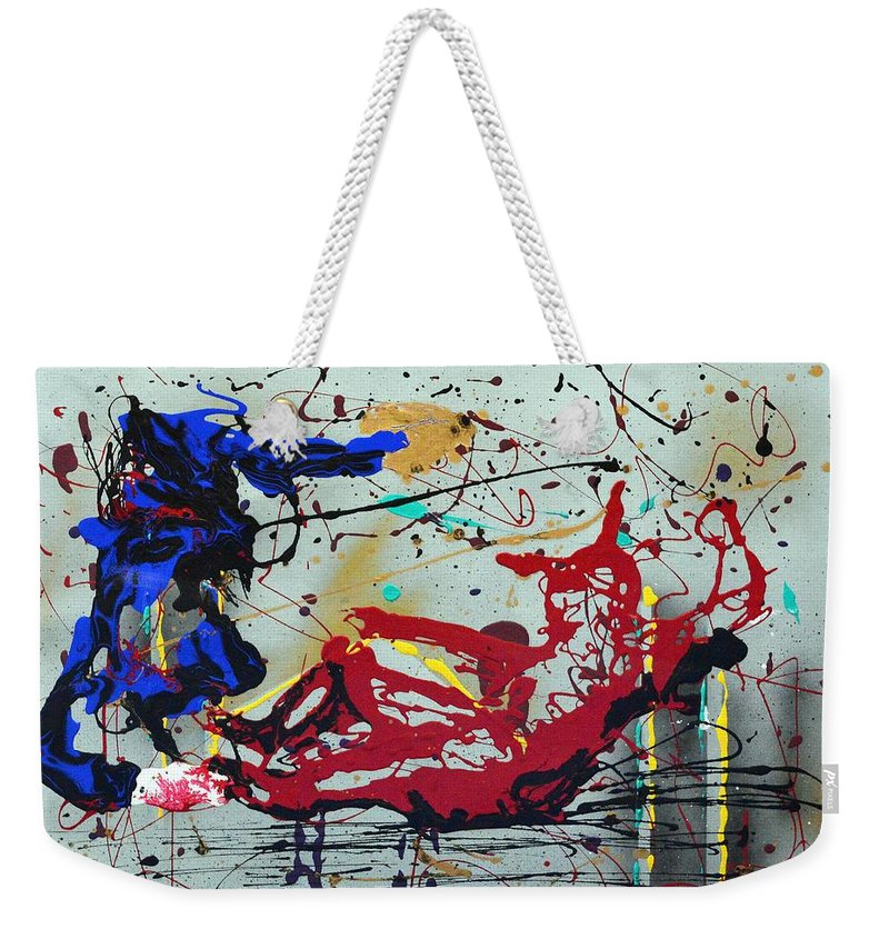 Impressionist Painting Weekender Tote Bag featuring the painting October Fever by J R Seymour