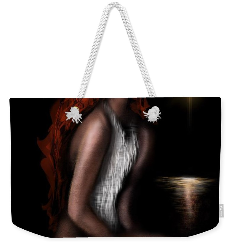 Weekender Tote Bag featuring the digital art Odalisque Of Serenity by Tighe O'DonoghueRoss