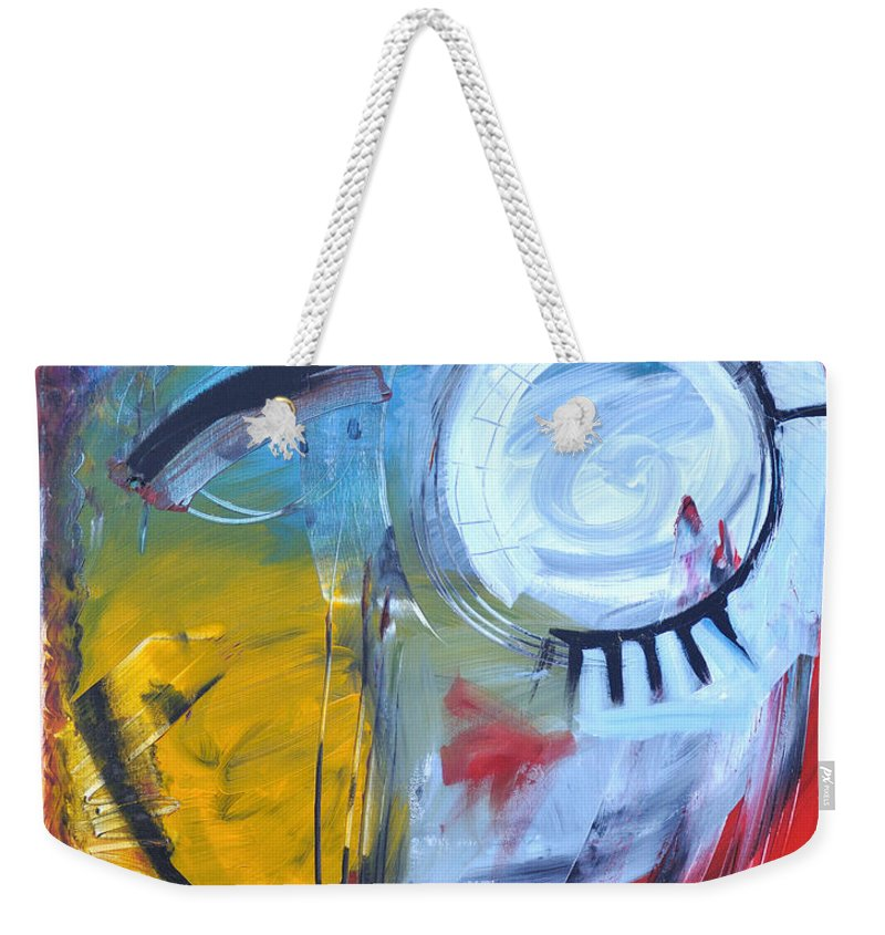 Jim Dine Weekender Tote Bag featuring the painting Ode To Jim Dine by Tim Nyberg