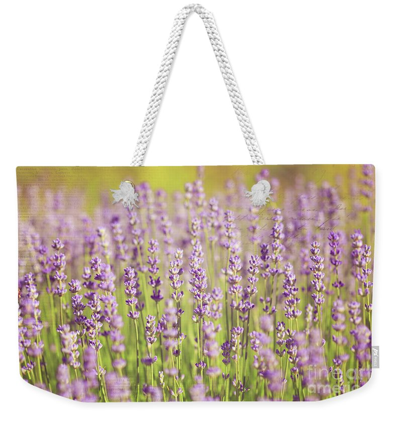Flowers Weekender Tote Bag featuring the photograph Ode To Lavender by Beve Brown-Clark Photography