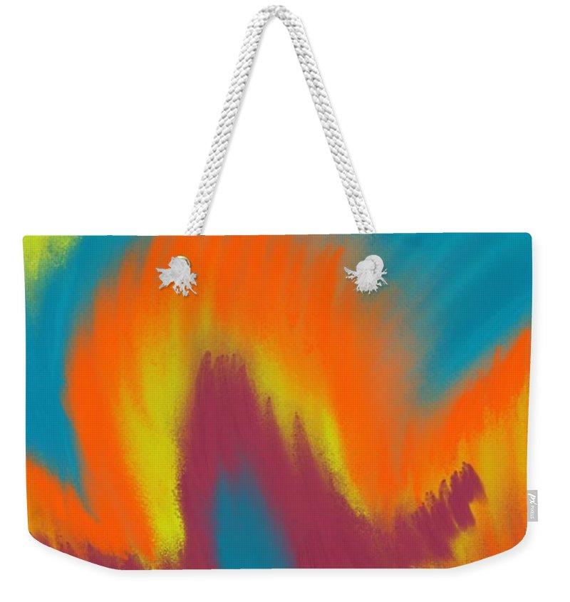 Weekender Tote Bag featuring the digital art Ode To The Ultimate Warrior by Reddick Mack