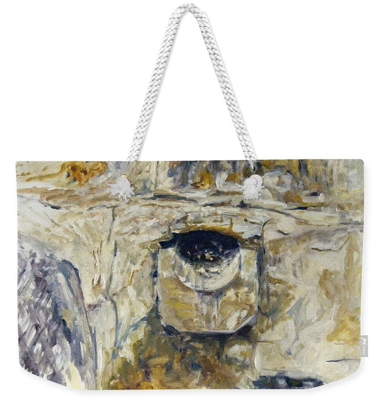 Landscape Weekender Tote Bag featuring the painting Odvodnovaci Kanal by Pablo de Choros