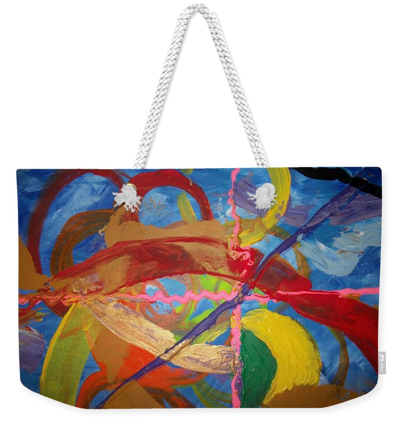 Weekender Tote Bag featuring the painting Odyssey by Jan Gilmore