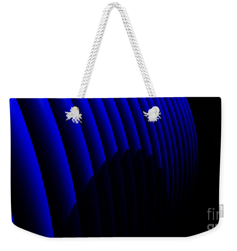 Abstract Weekender Tote Bag featuring the digital art Odyssey by Richard Rizzo