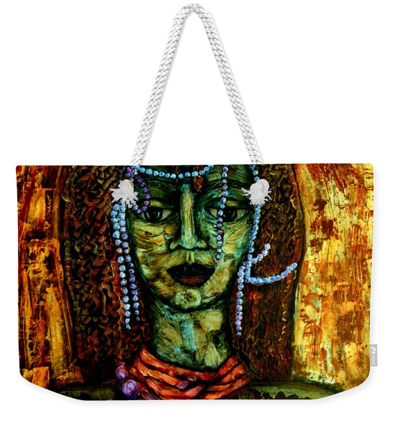 Memories Weekender Tote Bag featuring the painting Of Another Childhood I Keep Memories by Madalena Lobao-Tello