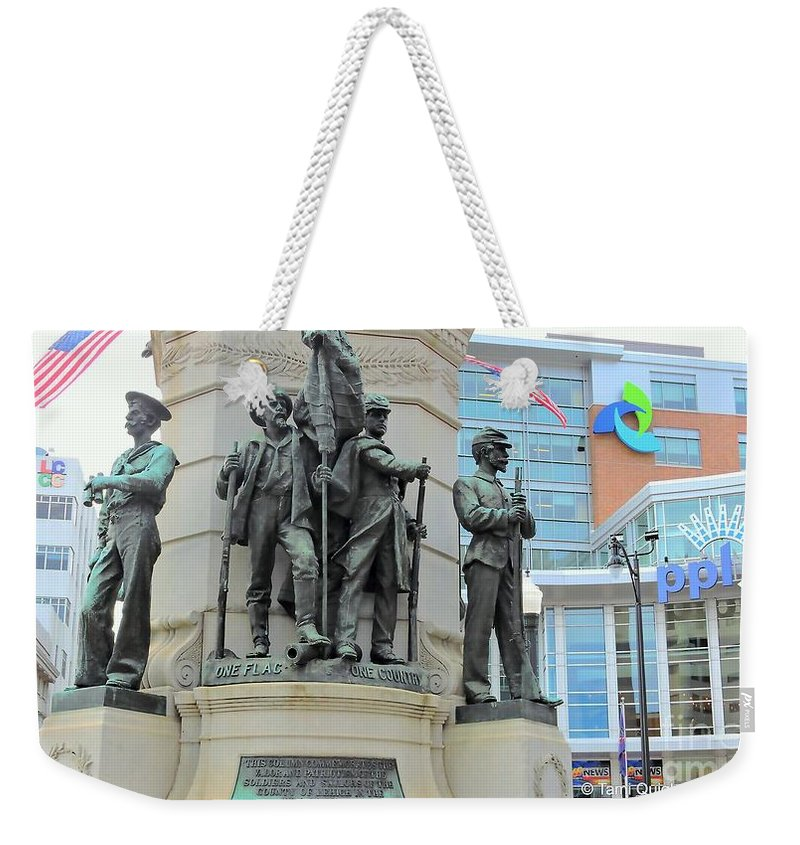 Soldiers And Sailors Monument Weekender Tote Bag featuring the photograph Of Soldiers And Sailors by Tami Quigley