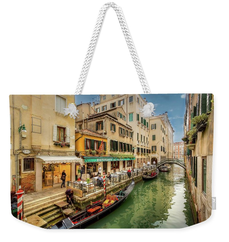 Cityscape Weekender Tote Bag featuring the photograph Off The Beaten Tourist Track by Mike Houghton BlueMaxPhotography