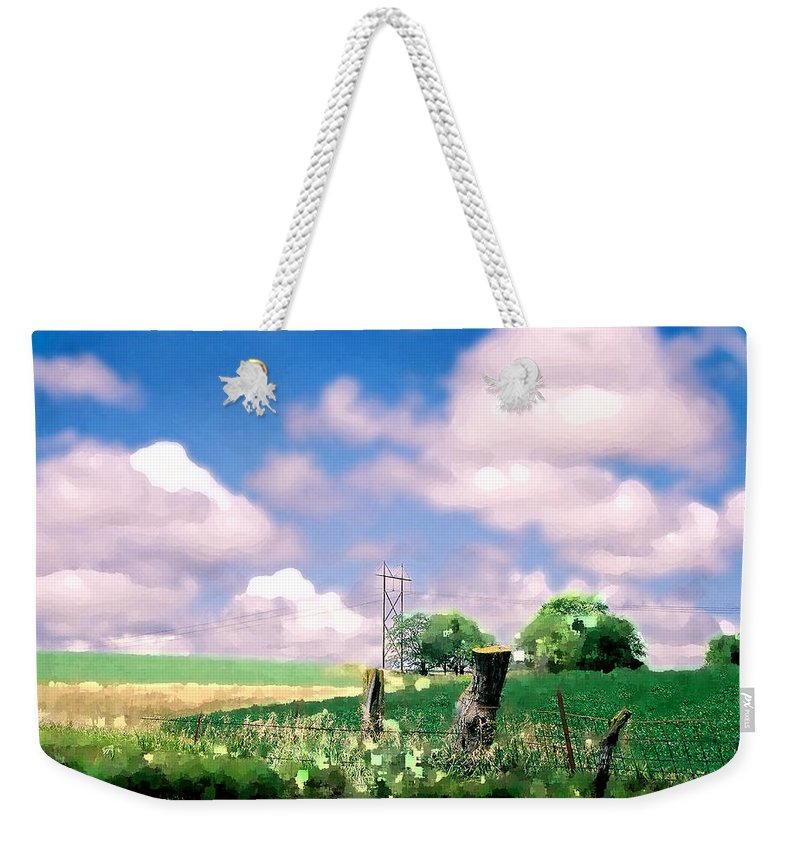 Landscape Weekender Tote Bag featuring the photograph Off The Grid by Steve Karol