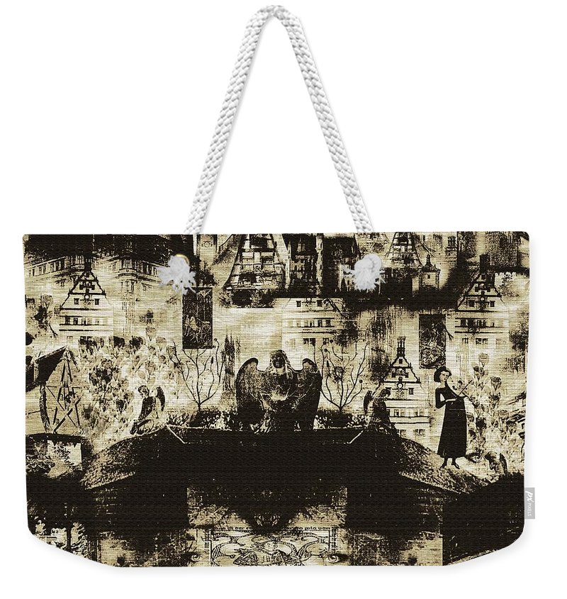 Angels Weekender Tote Bag featuring the digital art Oh Bosch by RC DeWinter