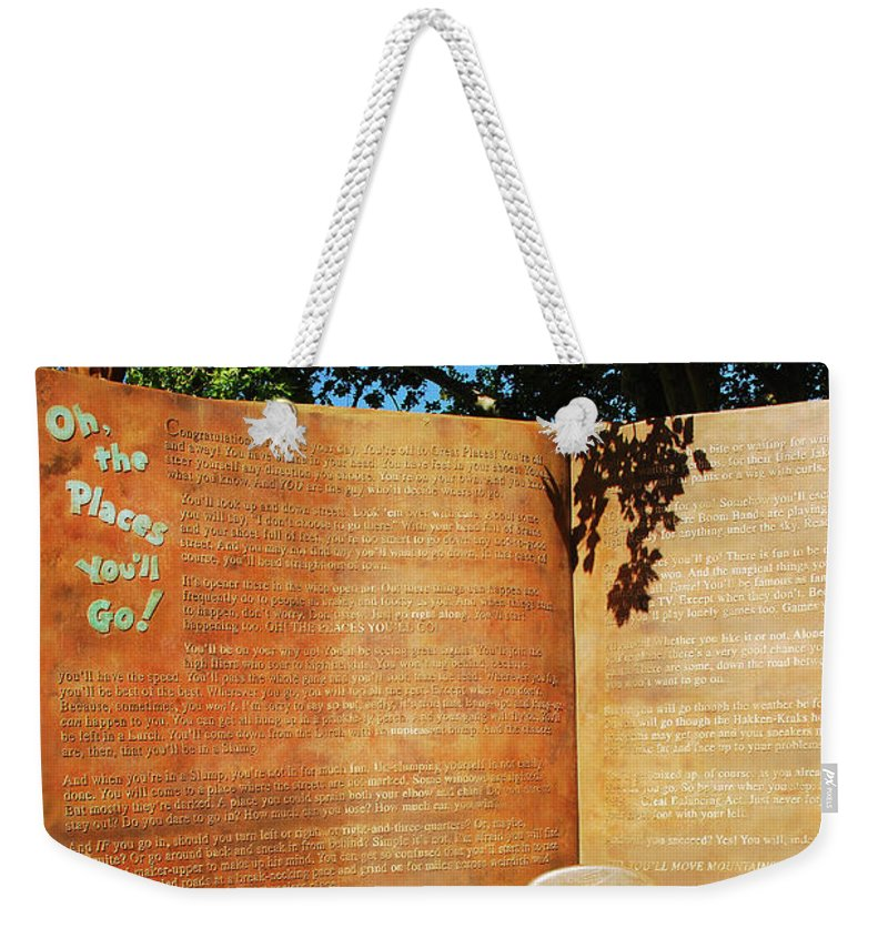 Springfield Weekender Tote Bag featuring the photograph Oh The Place Youll Go by James Kirkikis