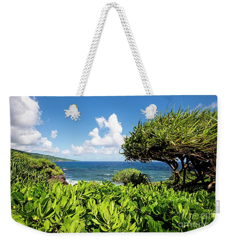 Ohe'o Weekender Tote Bag featuring the photograph Ohe'o Coast by Keith Ducker