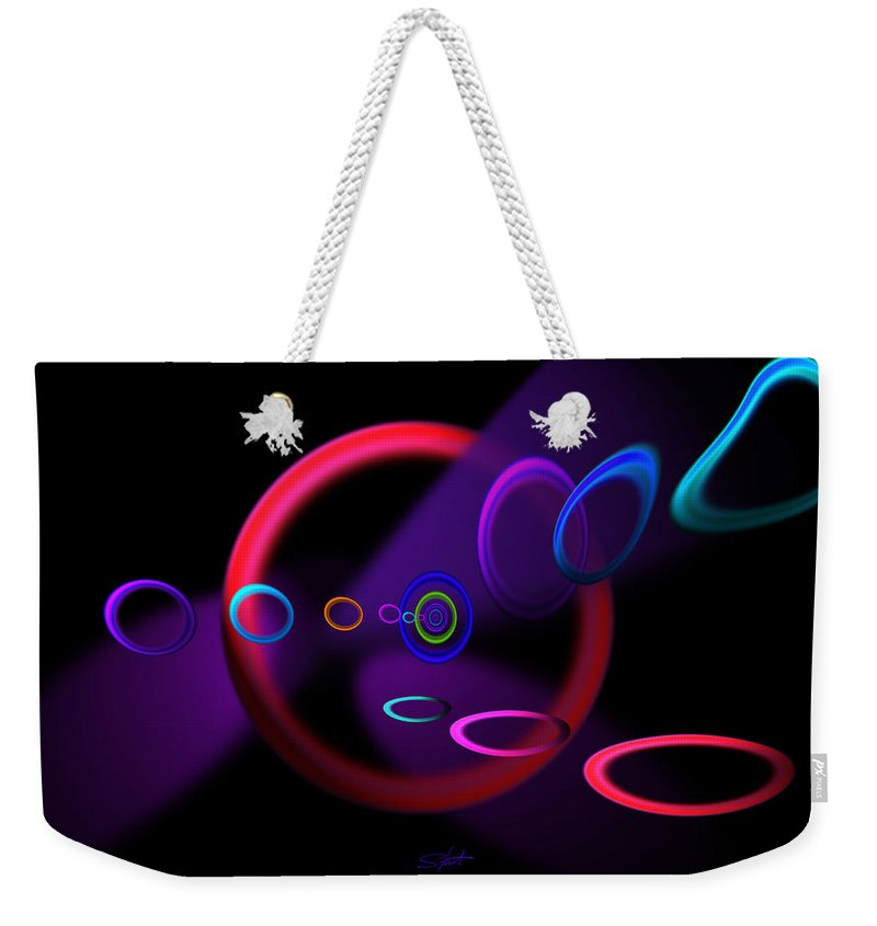 Abstract Weekender Tote Bag featuring the painting Ohhhhhhhhhh by Charles Stuart