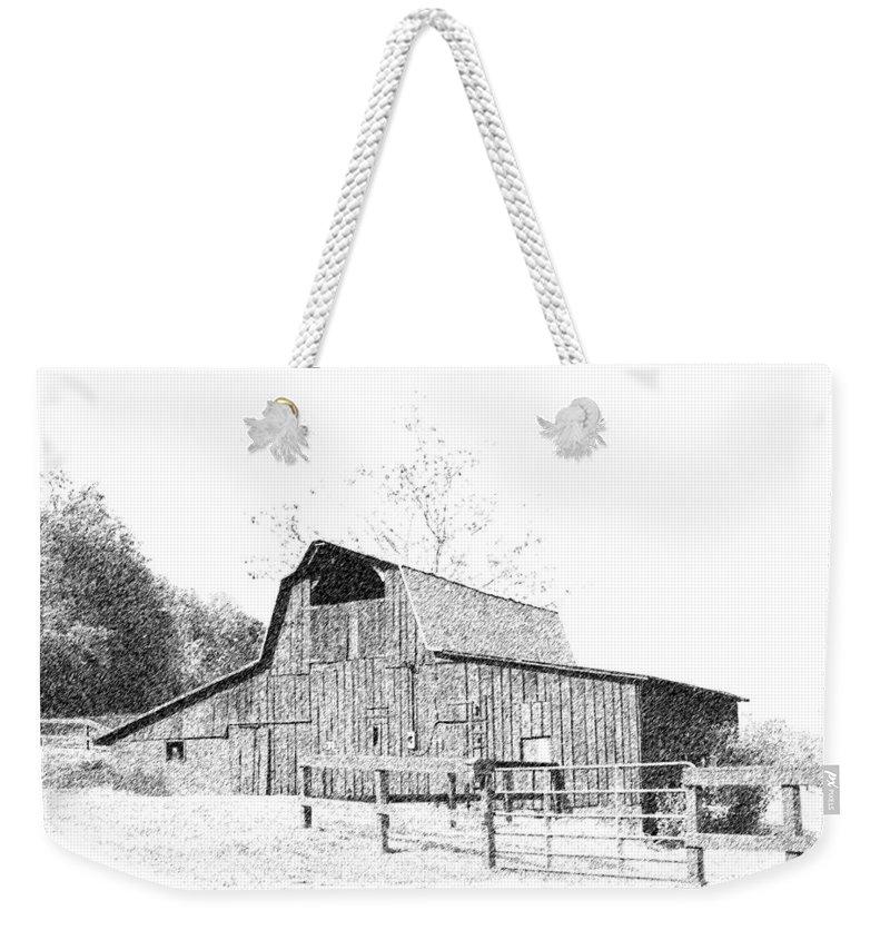 Barn Weekender Tote Bag featuring the photograph Ohio Barn by Lorraine Baum