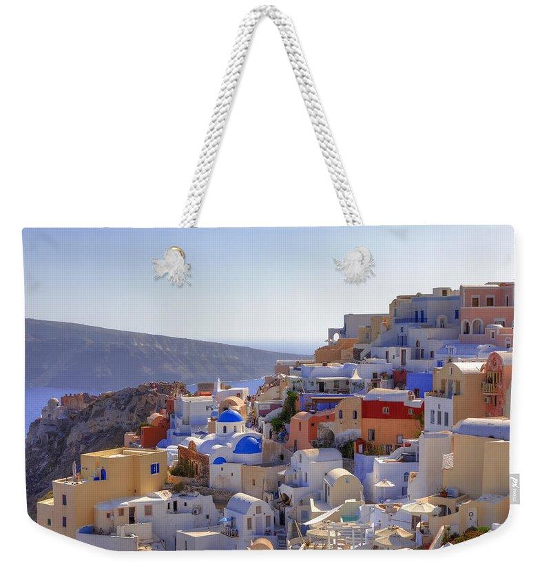 Greece Weekender Tote Bags