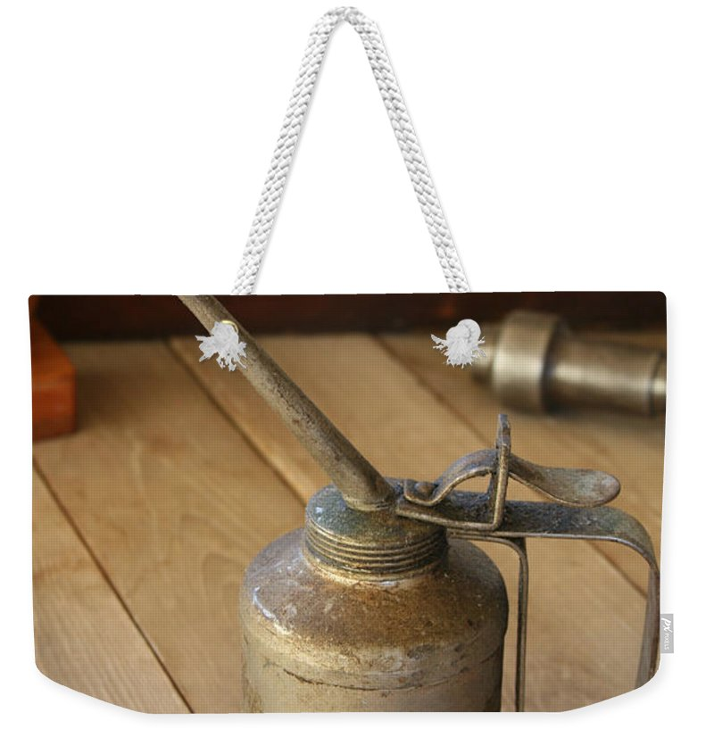 Tool Weekender Tote Bag featuring the photograph Oil Can by Marna Edwards Flavell