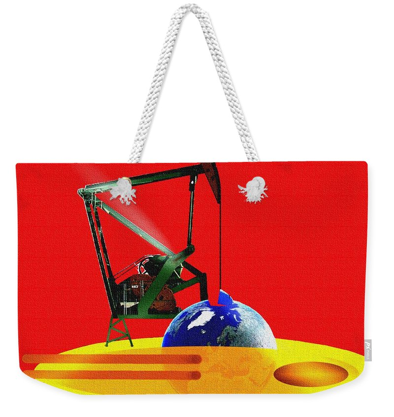 Urgent Weekender Tote Bag featuring the digital art oil by Helmut Rottler