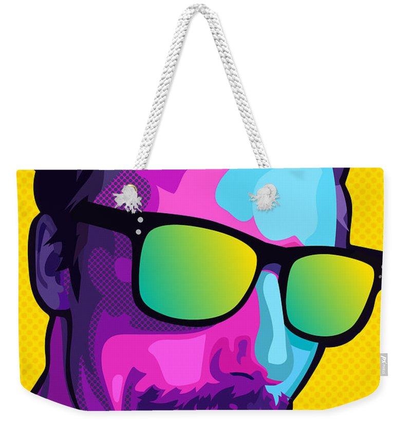 Pop-art Weekender Tote Bag featuring the digital art Okay by David Lange