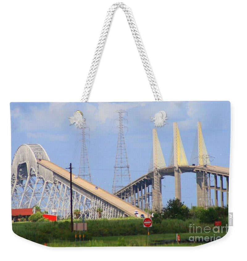 Rainbow Bridge Weekender Tote Bag featuring the photograph Old And New by John W Smith III