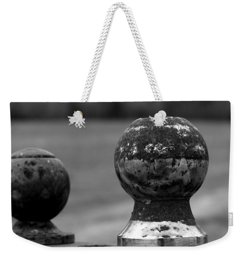 Ball Weekender Tote Bag featuring the photograph Old And New by Karen Harrison