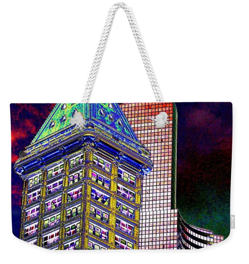 Seattle Weekender Tote Bag featuring the photograph Old And New Seattle 2 by Tim Allen
