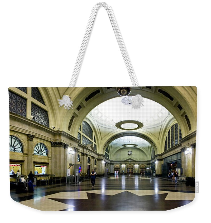 Photography Weekender Tote Bag featuring the photograph Old Barcelona Train Station by Frederic A Reinecke
