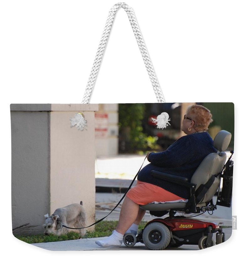 Women Weekender Tote Bag featuring the photograph Old Barefoot Women by Rob Hans