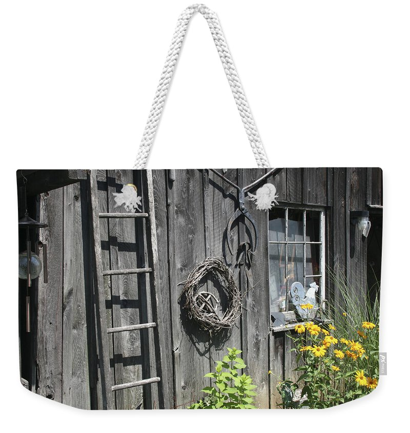 Barn Weekender Tote Bag featuring the photograph Old Barn II by Margie Wildblood