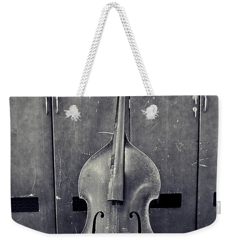 Black And White Weekender Tote Bag featuring the photograph Old Bass by Scott Wyatt