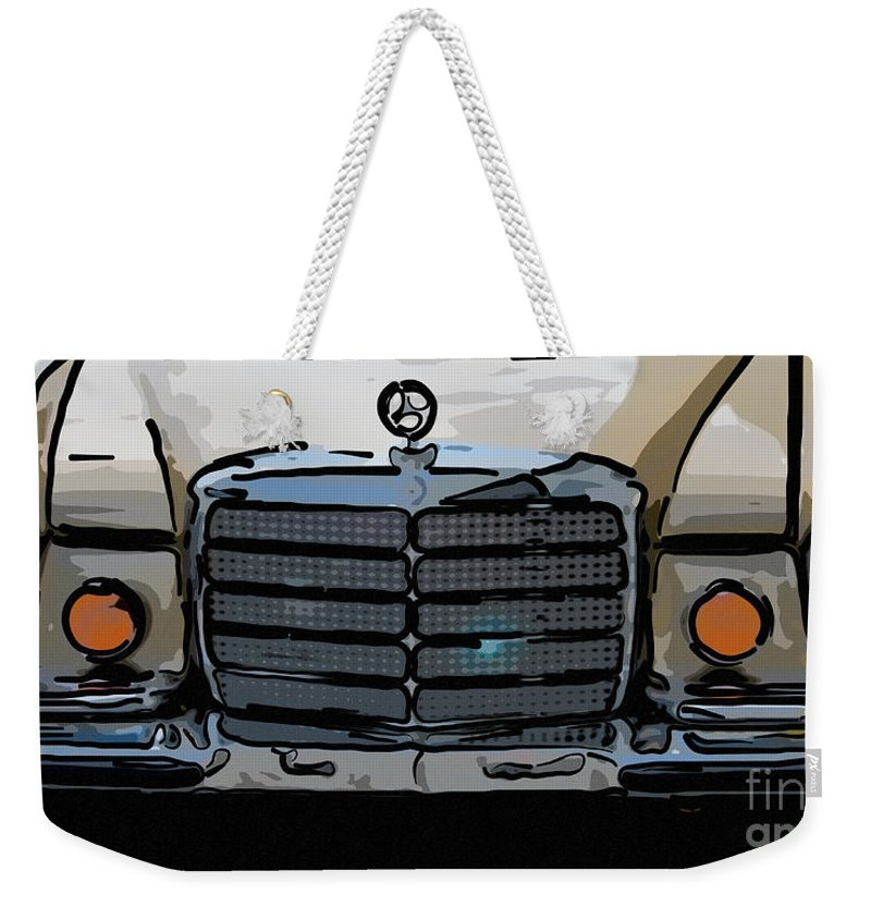 Mercedes Benz Weekender Tote Bag featuring the photograph Old Benz by Dale Powell