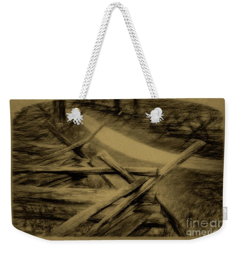 Antietam Weekender Tote Bag featuring the photograph Old Bloody Lane by Paul W Faust - Impressions of Light