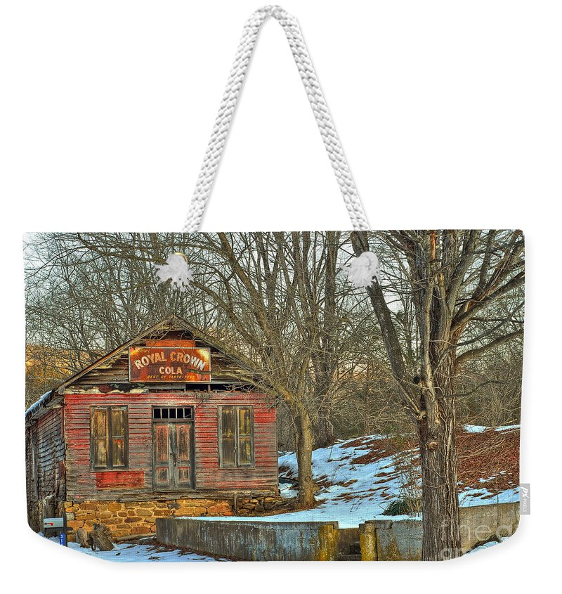 Rockbridge County Weekender Tote Bag featuring the photograph Old Building by Todd Hostetter
