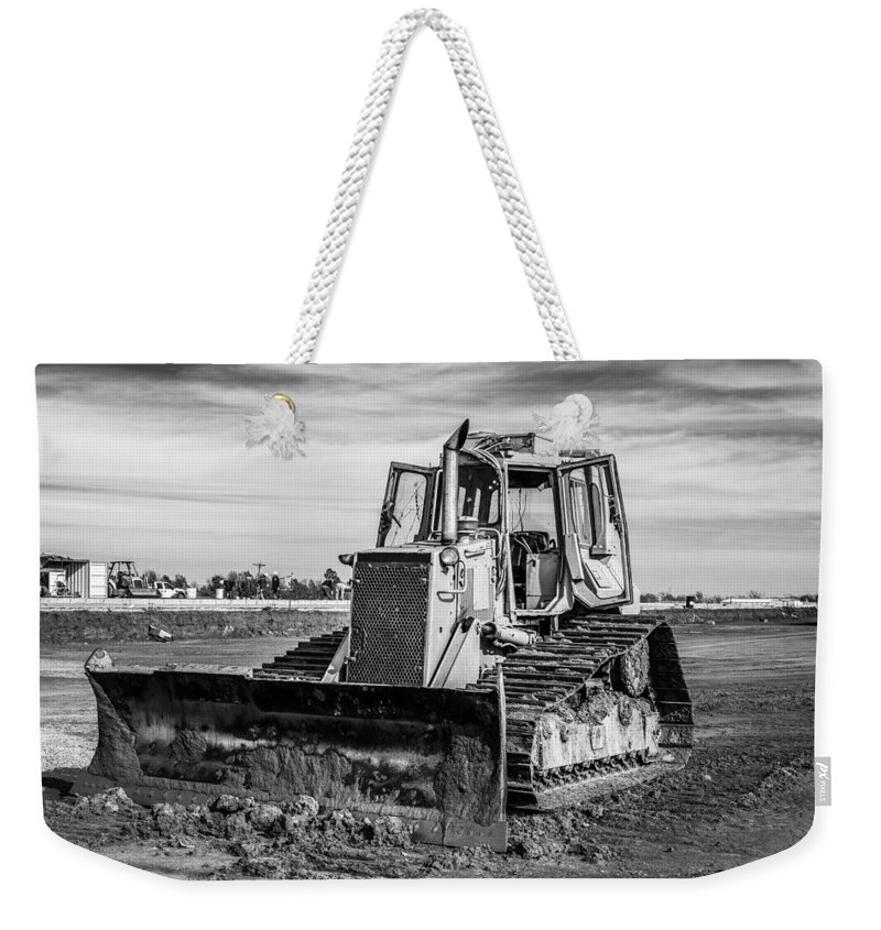 Bulldozer Weekender Tote Bag featuring the photograph Old Bulldozer by Doug Long