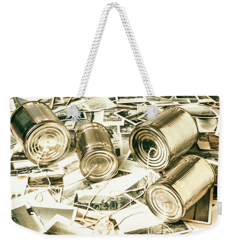 Telephone Weekender Tote Bag featuring the photograph Old Business Wires by Jorgo Photography - Wall Art Gallery