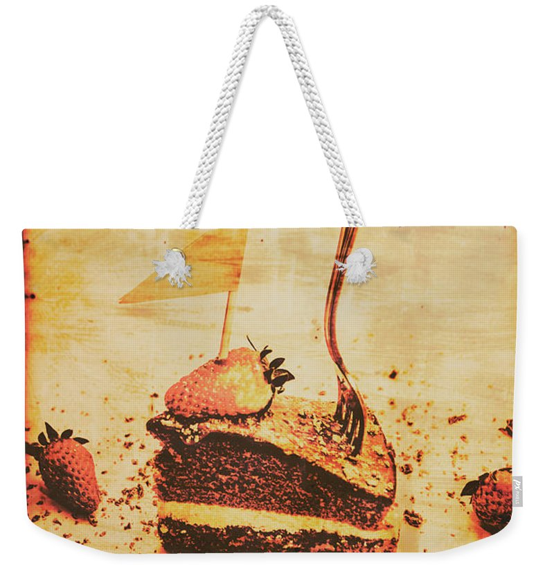 Vintage Weekender Tote Bag featuring the photograph Old Cake Break by Jorgo Photography - Wall Art Gallery