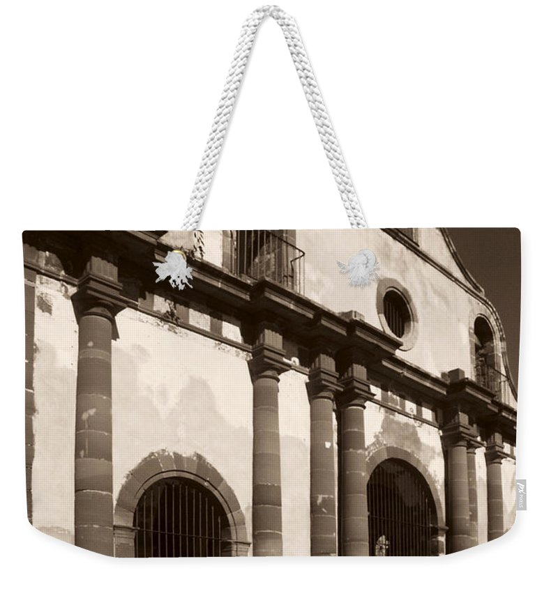 Old Guerrero Weekender Tote Bag featuring the photograph Old Catholic Mission Ghost Town by Marilyn Hunt