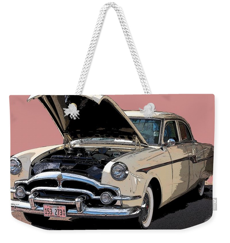 Antique Auto Weekender Tote Bag featuring the photograph Old Chevy by Robert Meanor