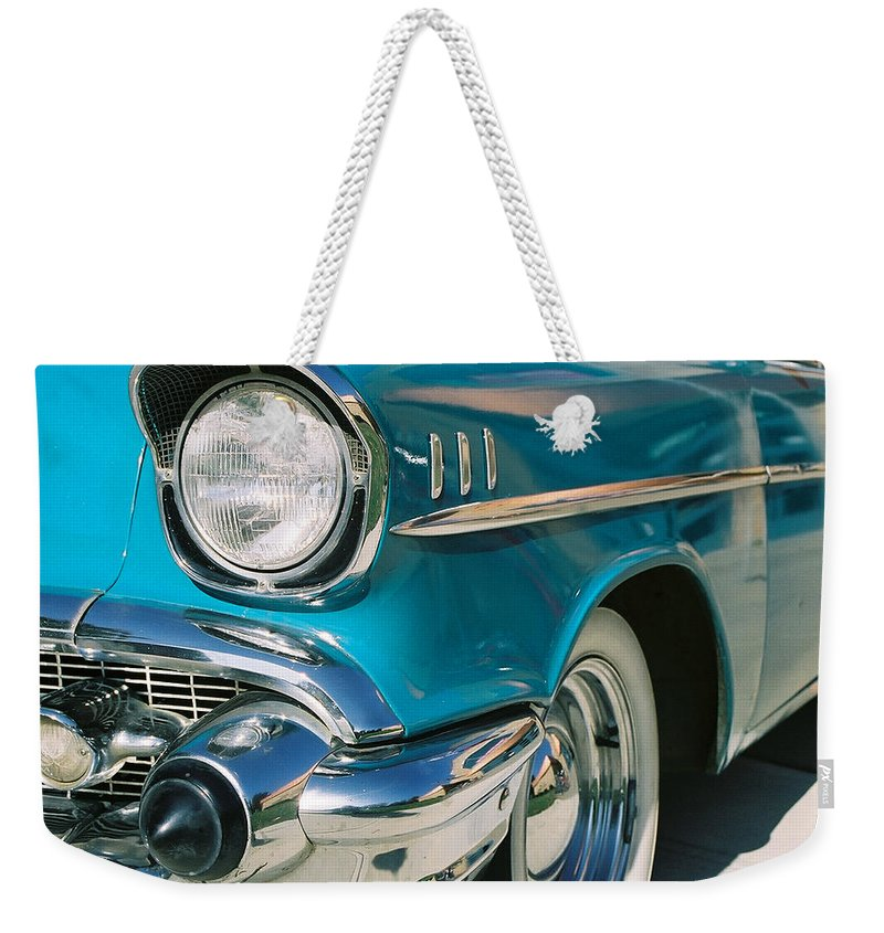 Chevy Weekender Tote Bag featuring the photograph Old Chevy by Steve Karol