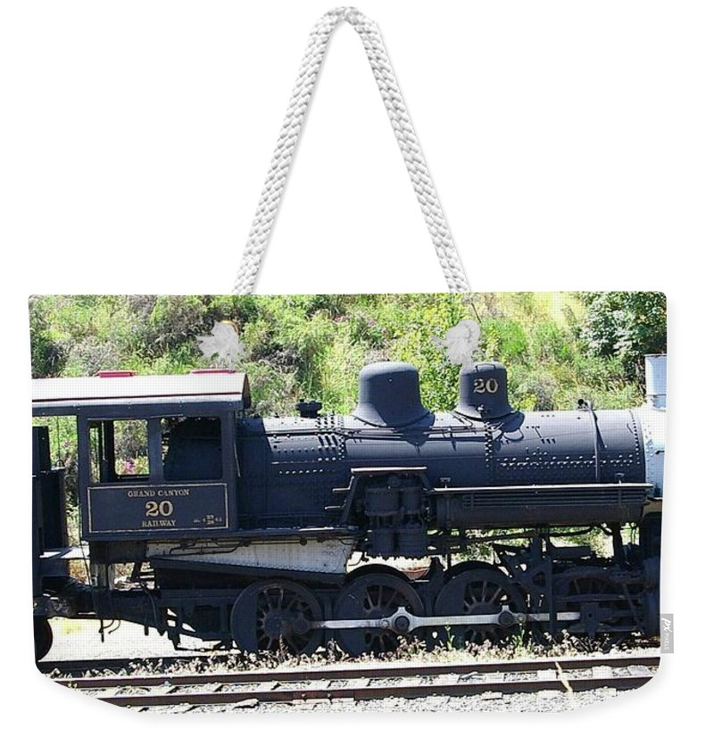 Trains Weekender Tote Bag featuring the photograph Old Choo Choo by Jeff Swan
