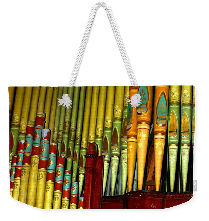 Organ Weekender Tote Bag featuring the photograph Old Church Organ by Anthony Jones