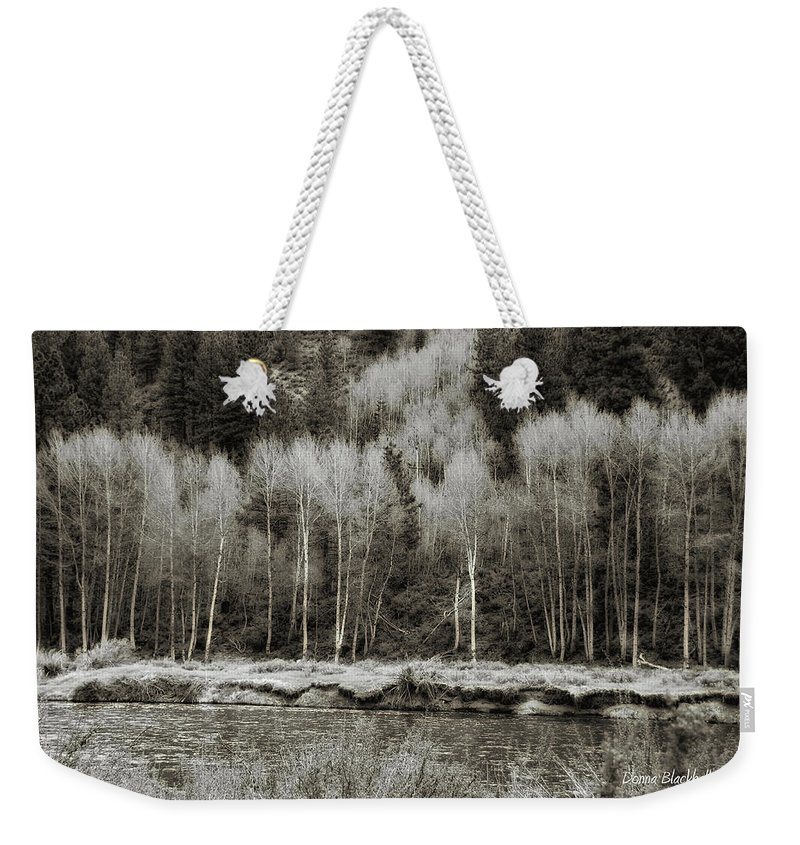 California Weekender Tote Bag featuring the photograph Old Country by Donna Blackhall