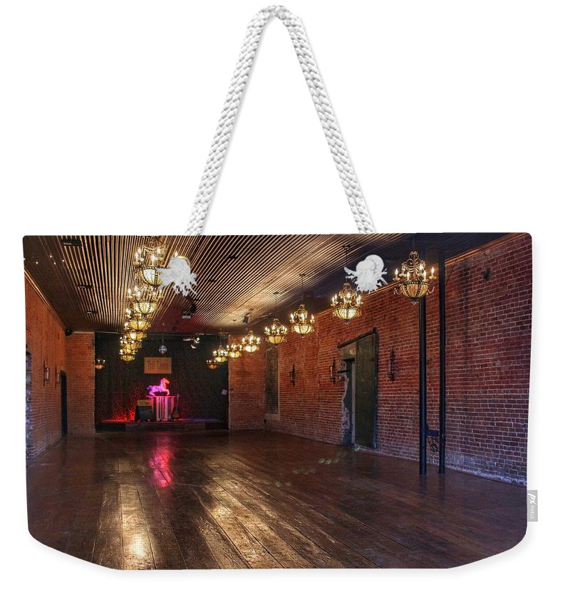 Guthrie Weekender Tote Bag featuring the photograph Old Dance Hall by Buck Buchanan
