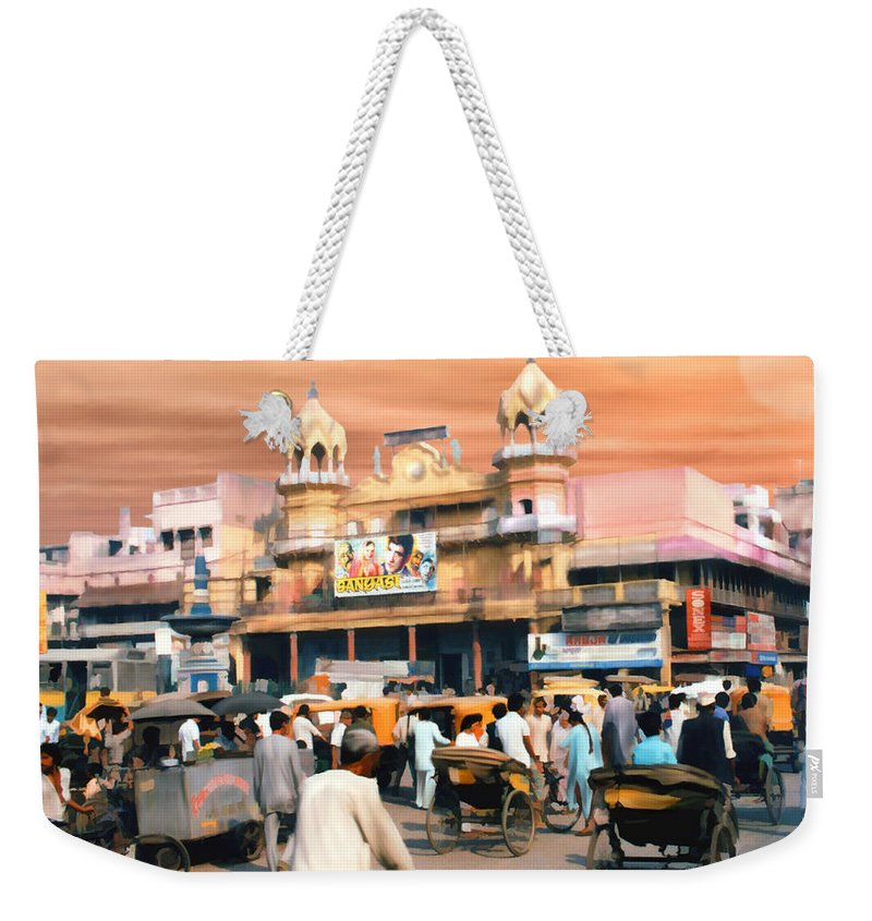 India Weekender Tote Bag featuring the photograph Old Dehli by Kurt Van Wagner