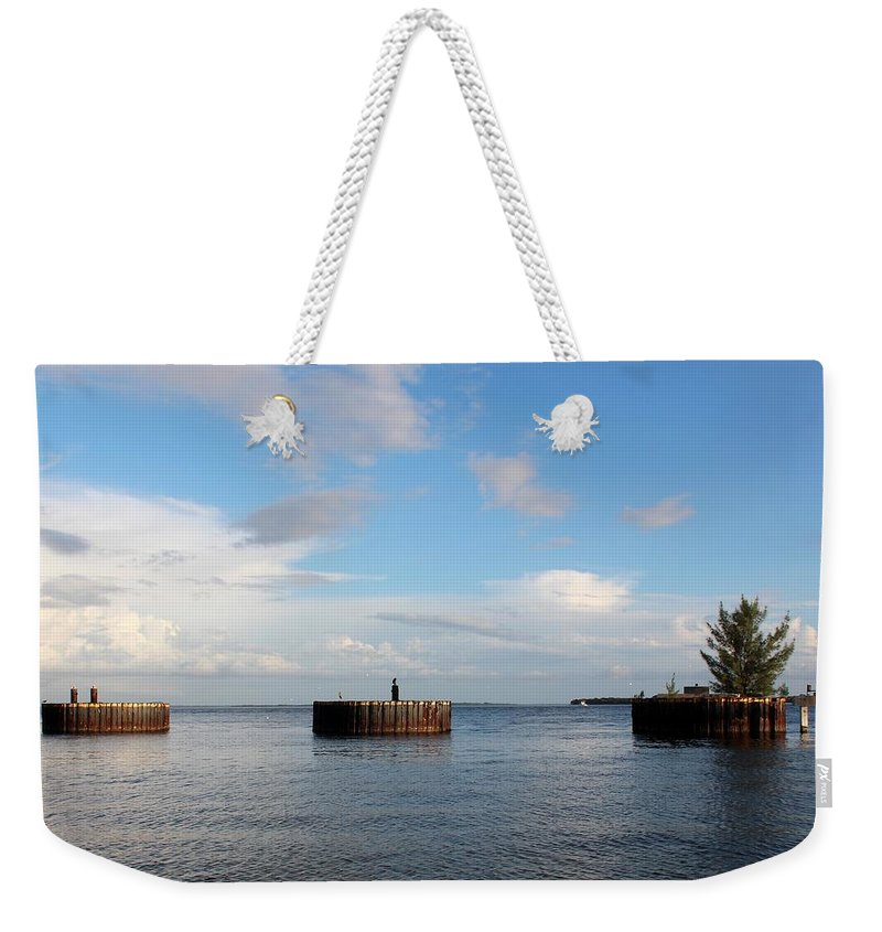 Photo For Sale Weekender Tote Bag featuring the photograph Old Docks Of Gasparilla by Robert Wilder Jr