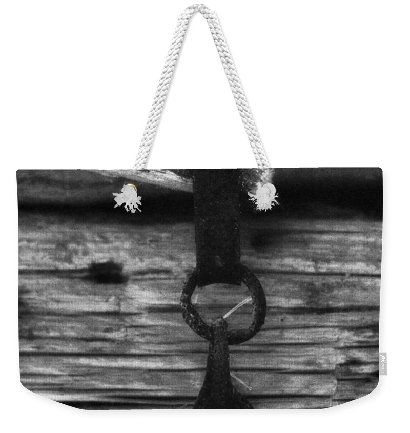 Doors Weekender Tote Bag featuring the photograph Old Door Latch by Richard Rizzo